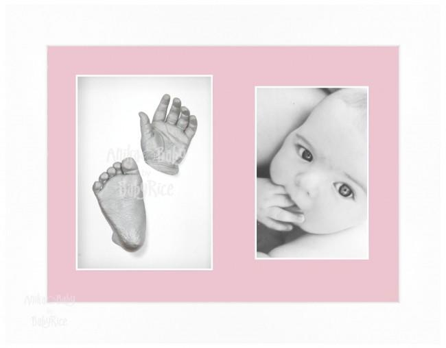 Baby Casting Kit / White Frame / Pink mount / Silver paint