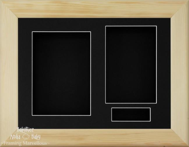 Natural Pine 3D Display Box Frame Black