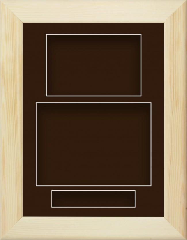 Natural Pine Wooden Box Display Frame Brown Portrait