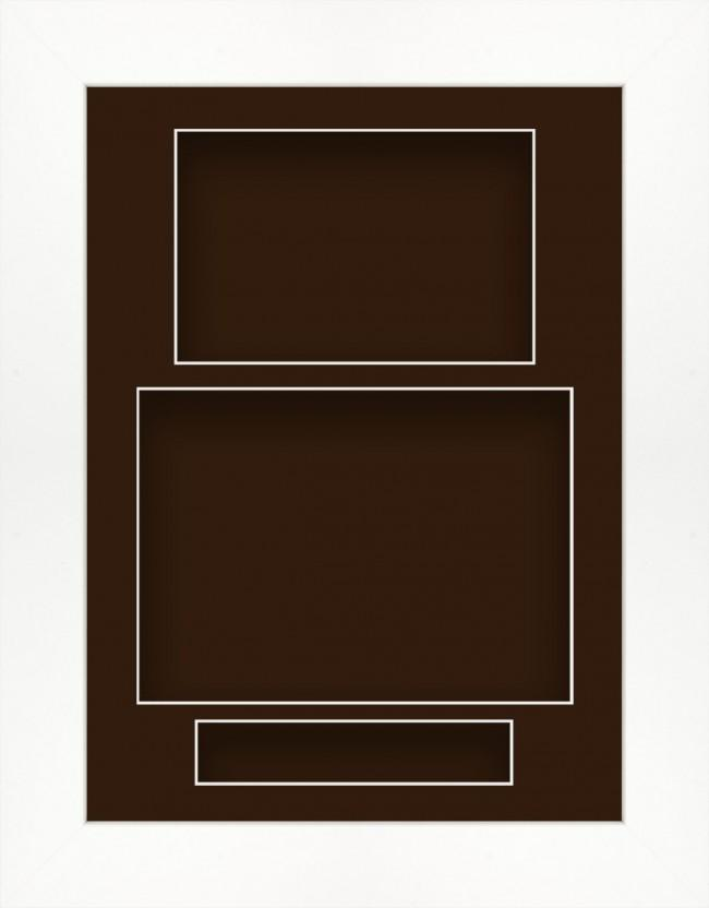 11.5x8.5 White Deep Box Display Frame Brown Portrait