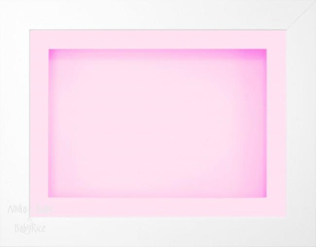 11.5x8.5 White Deep Box Display Frame Pink