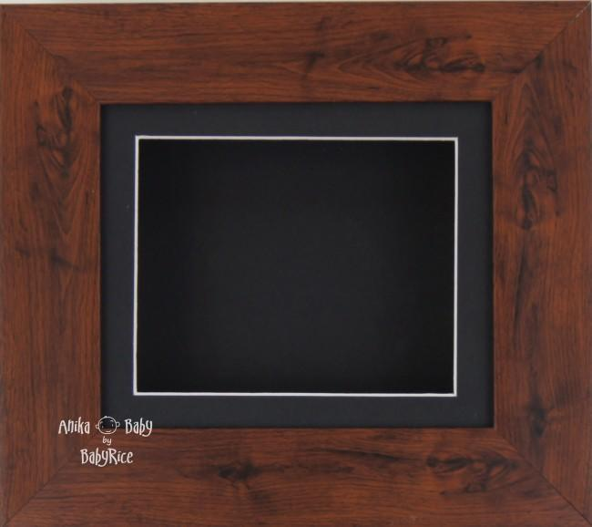 "6x5"" Mahogany display frame / Black mount & Backing"