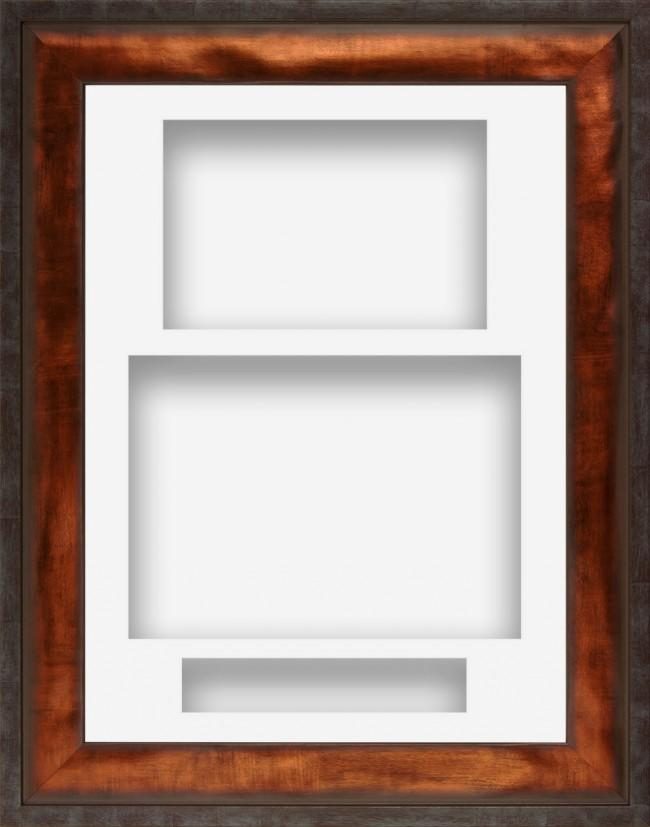 12x9 Urban Bronze Deep Display Frame White Portrait