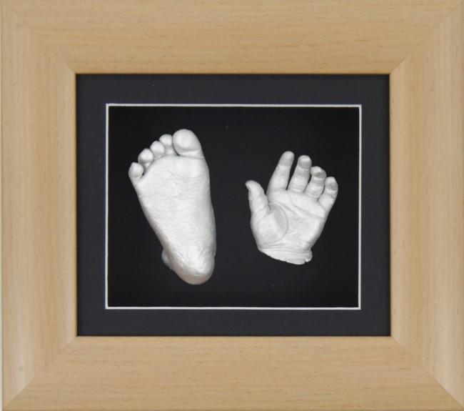 Baby Casting Kit Beech Effect Frame Black Silver paint