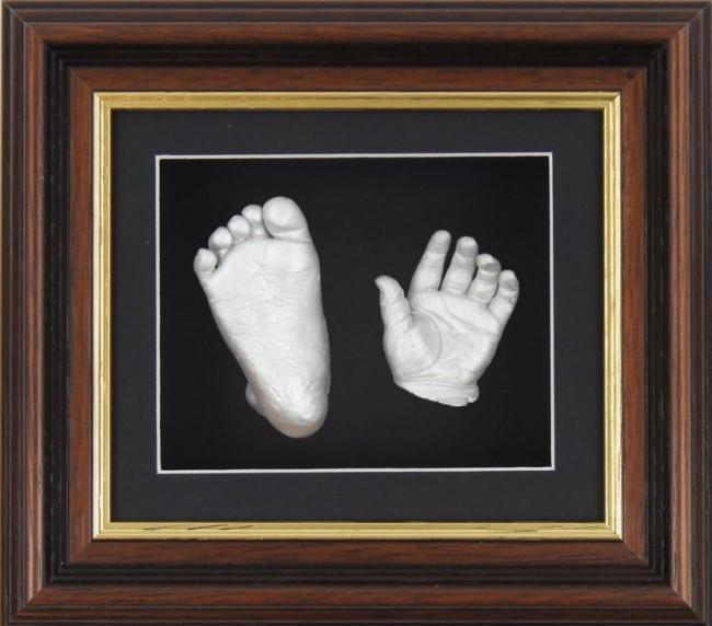 Baby Casting Kit Mahogany Gold Trim Frame Black Silver paint