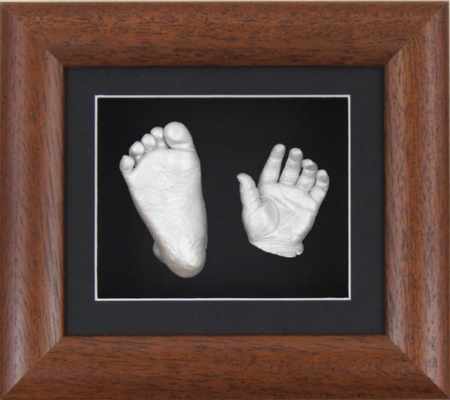 Baby Casting Kit Dark Wood Frame Black Silver paint