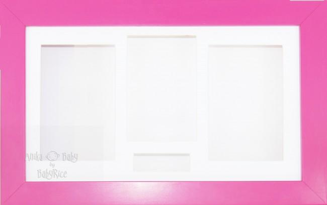 Large Pink 3D Shadow Box Display Frame / White