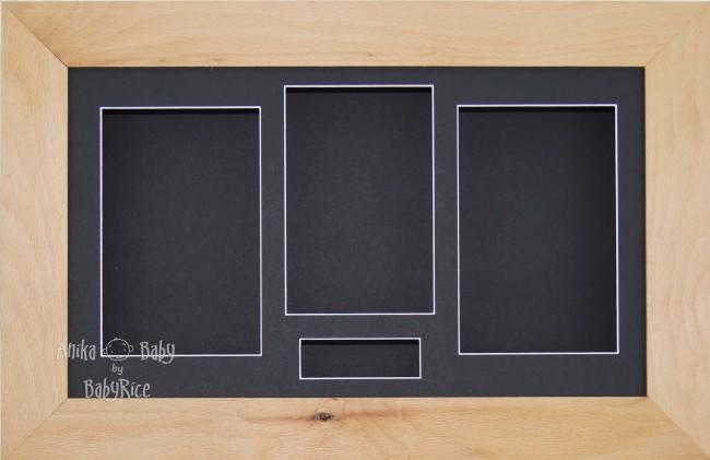 Large Real Beech Wooden 3D Box Display Frame / Black