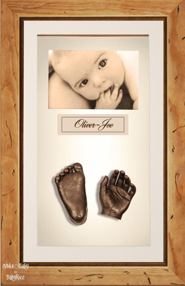 Large or Twins Baby Casting Kit / Rustic Pine Frame / Bronze Casts