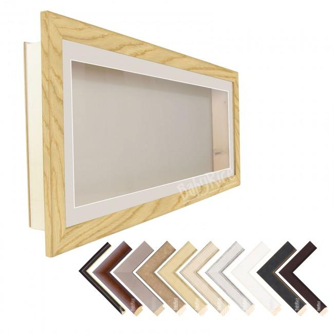 "35x13"" Deep Box Display Frame – Premium Wood Frames – Includes Mount"