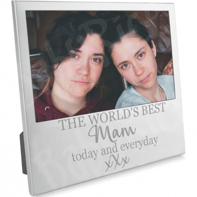 Mother's Day or Birthday Gift Photo Frame the World's Best Mam from Son Daughter