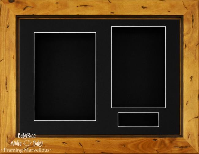 "11.5x8.5"" Rustic Pine Wood 3D Display Box Frame Black"