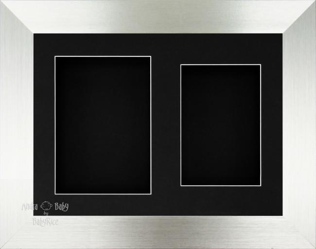 "11.5x8.5"" Silver 3D Box Frame Black 2 mount"