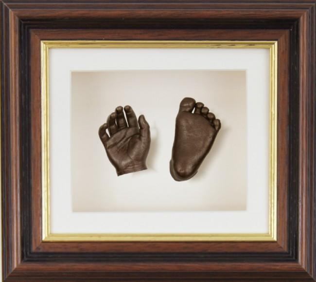 Baby Casting Kit Mahogany Gold Trim Frame Bronze paint