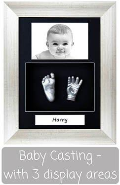 Baby Casting Kit with Portrait Frame - Photo, Casts, Text Display