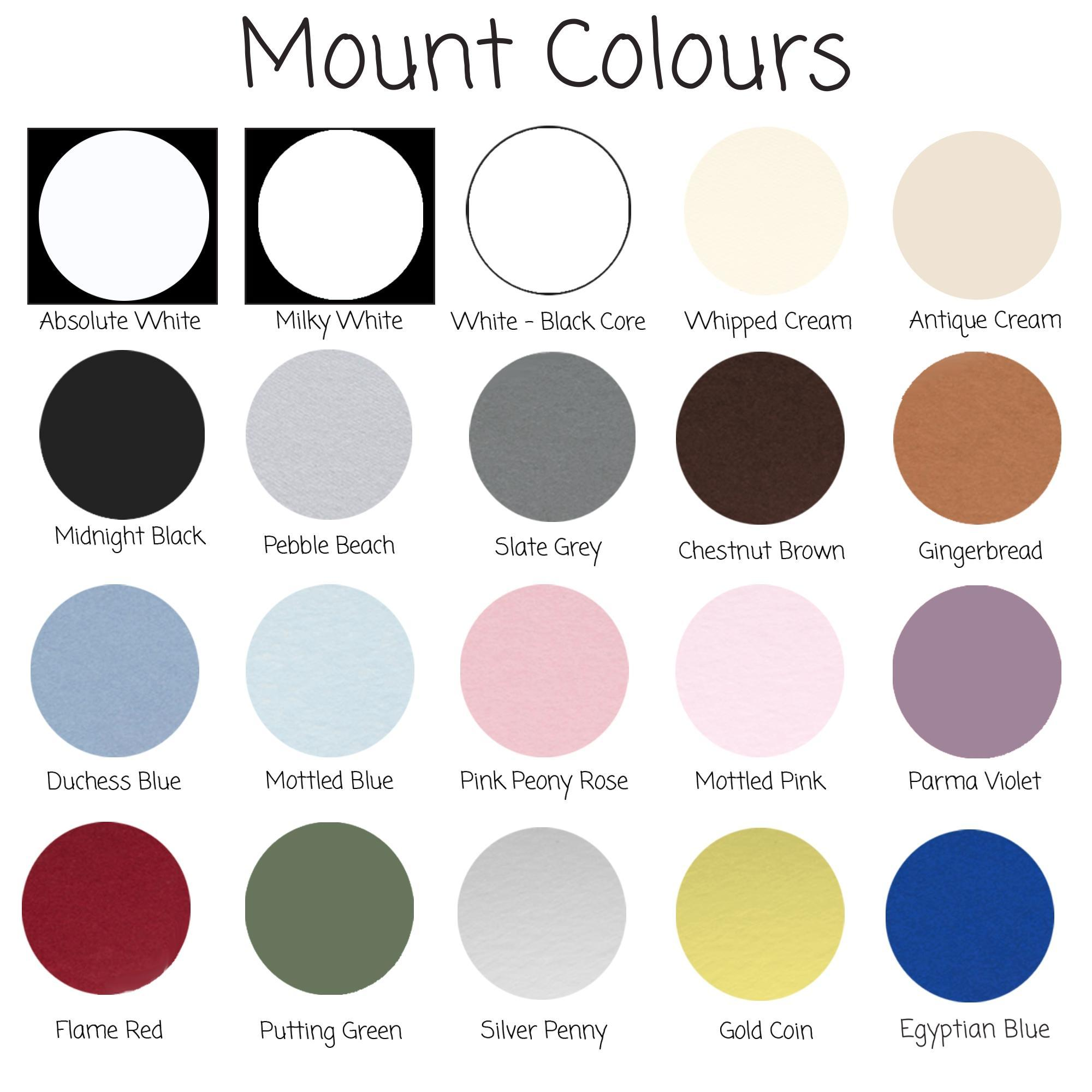 Selection of Mount colours