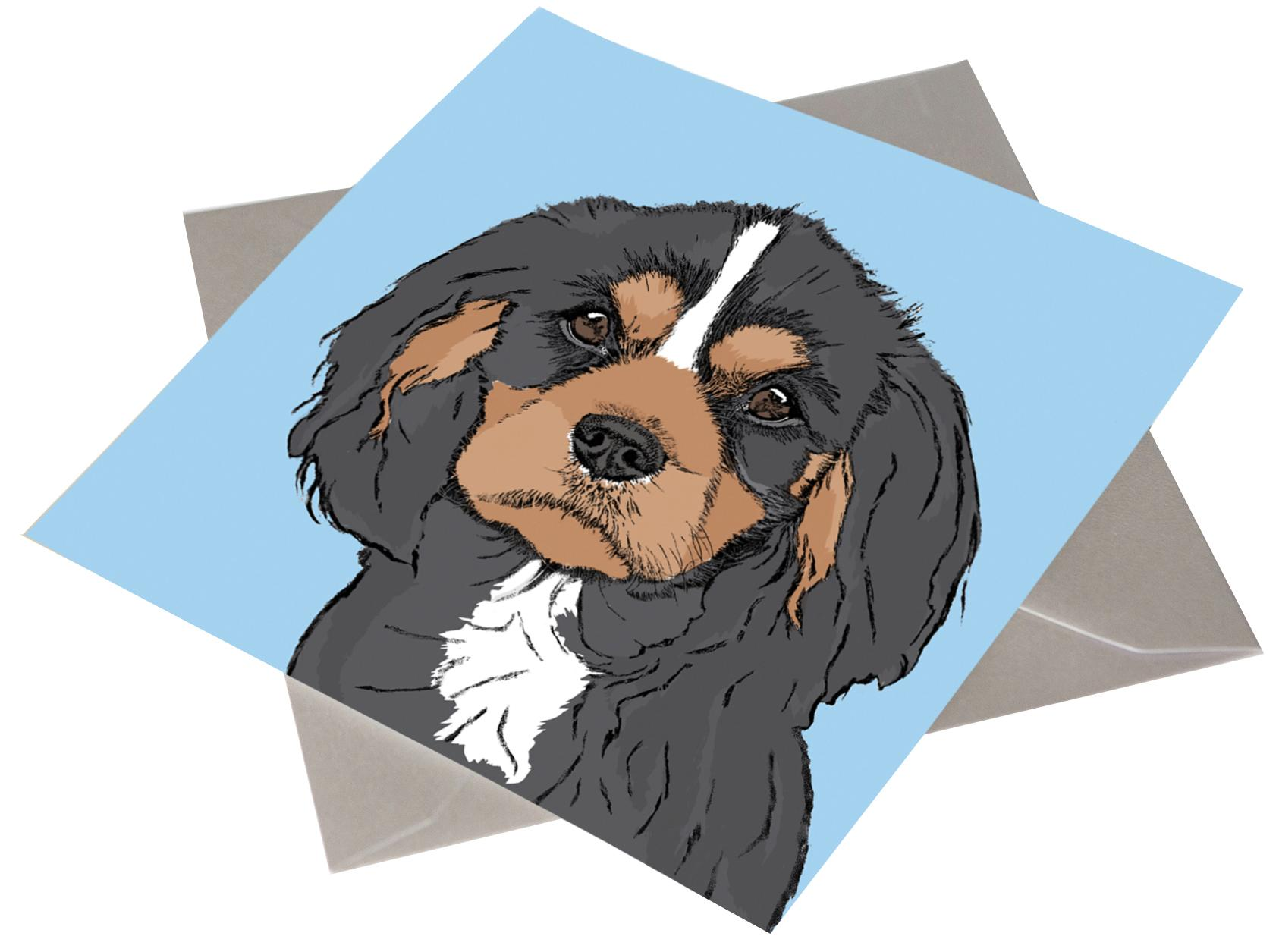King Charles Spaniel Birthday Card