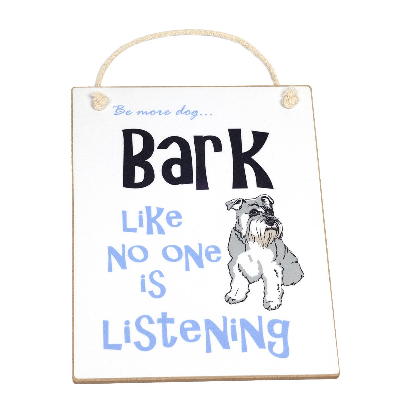 Schnauzer dog sign