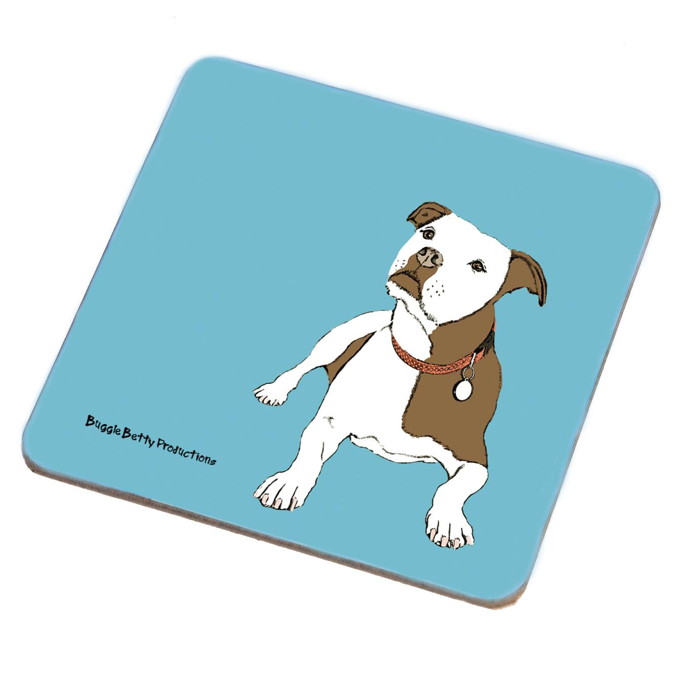 Staffordshire Bull Terrier - Staffie Coaster
