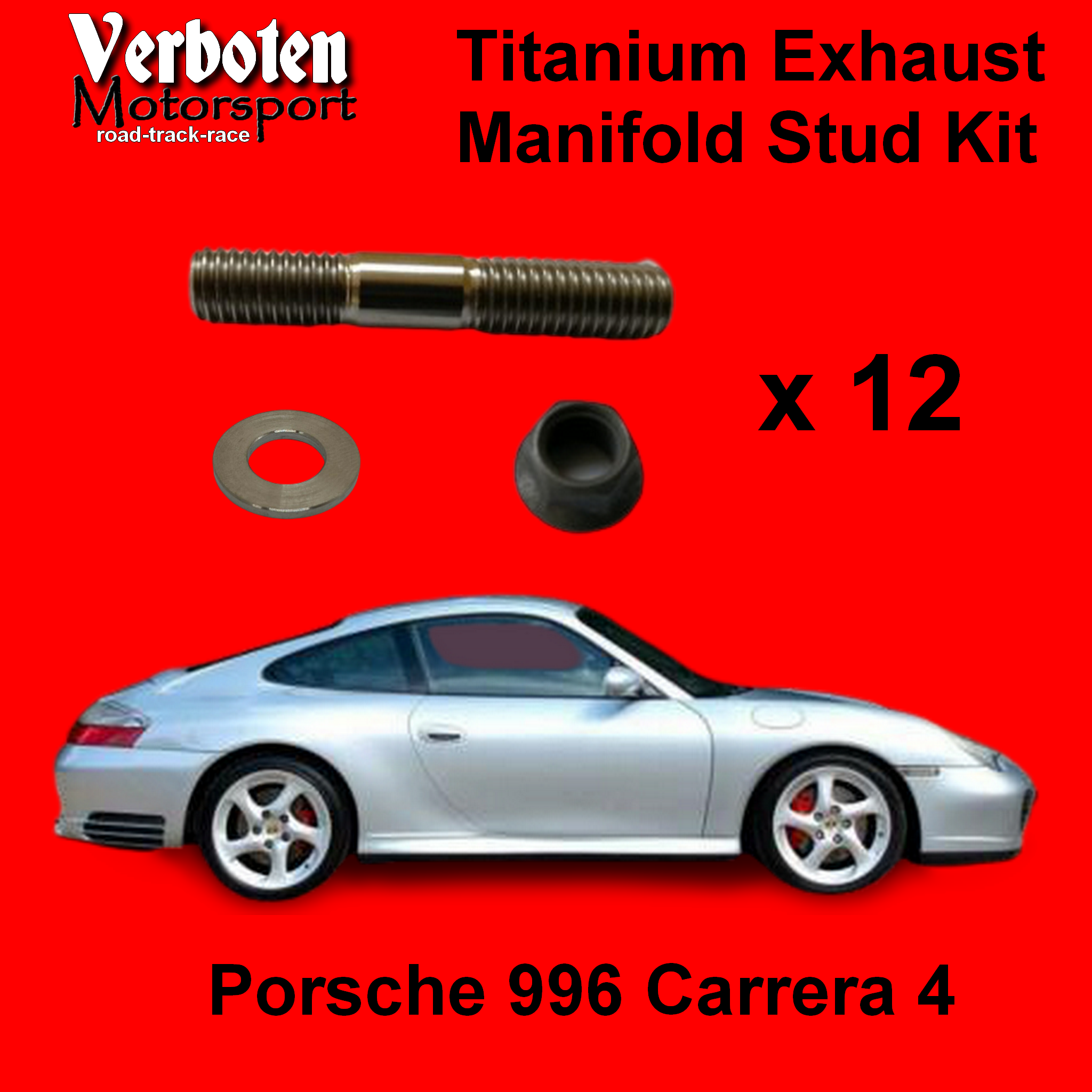 Porsche 996 Titanium Exhaust stud kit