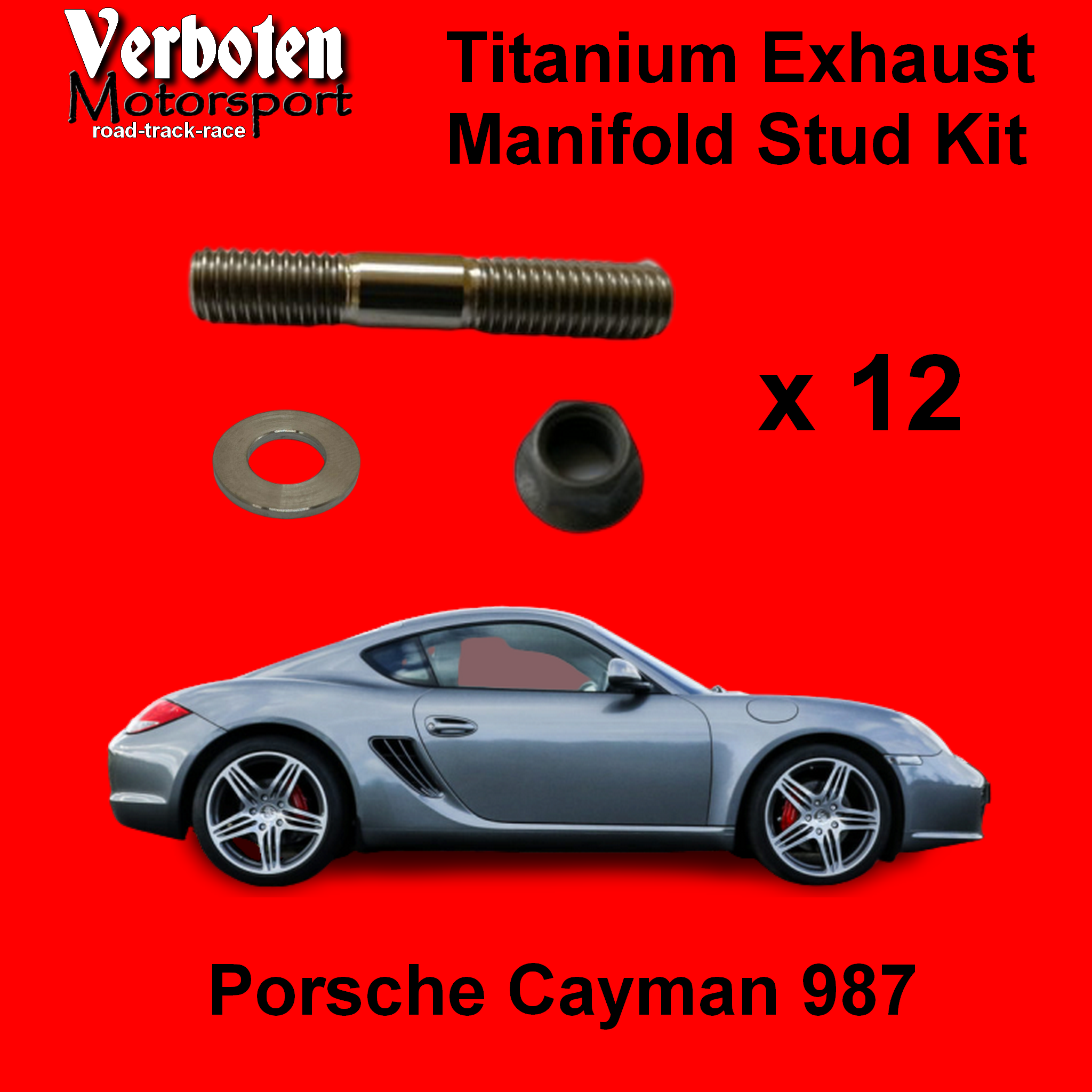 Cayman 987  Titanium Exhaust Stud Kit