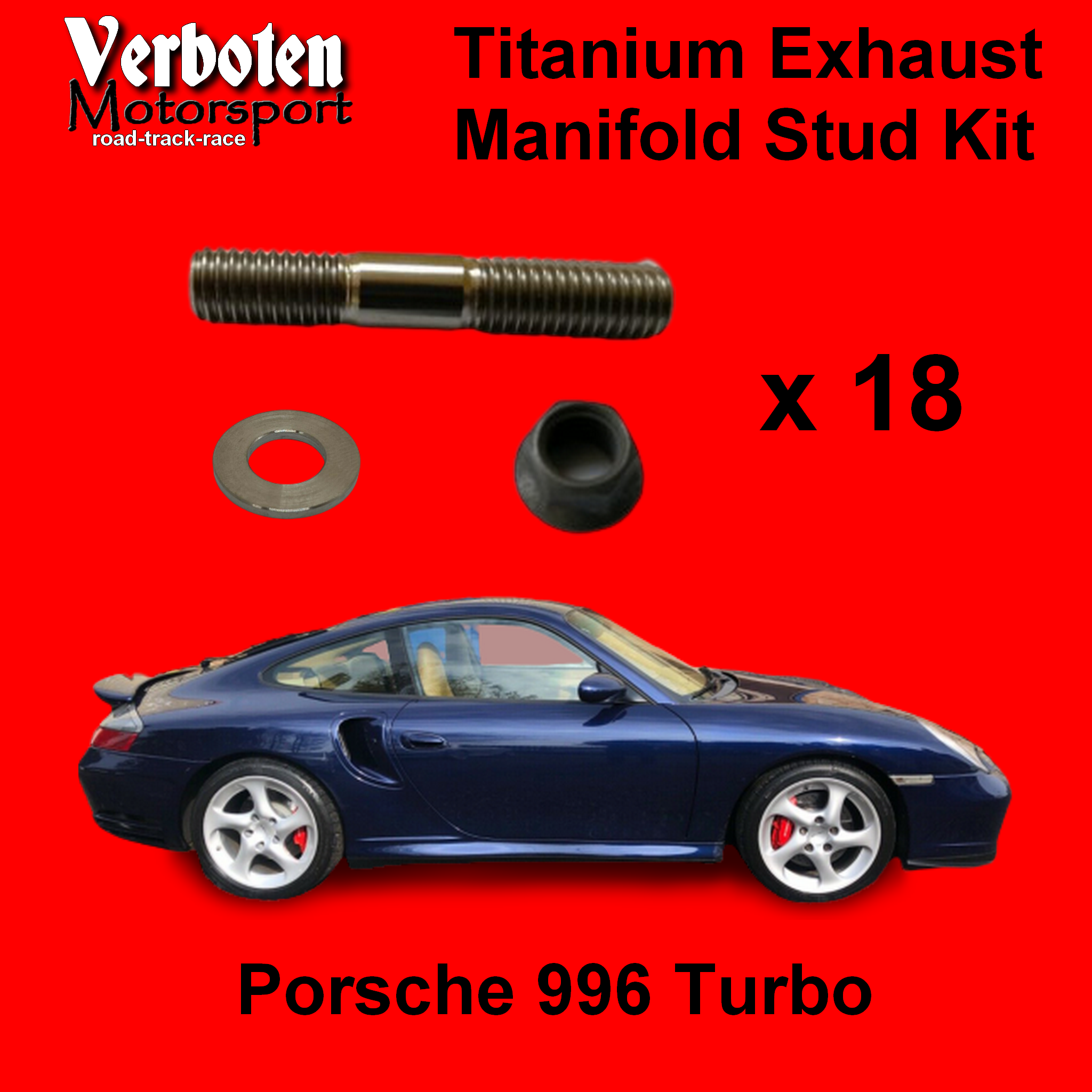 Porsche 996 Turbo Titanium Exhaust Stud Kit