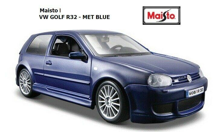 VW Golf R32 mk4 in blue 1:24 scale diecast model from Maisto