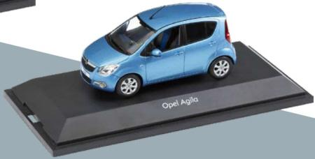 vauxhall Agila,  Metallic Blue,  Opel badged, made by Schuco