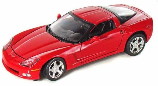 Chevrolet Corvette C6 2005 in red 1:24 scale model from motor max