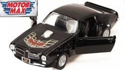 Pontiac Firebird Trans AM 1973 in black 1:24 scale model from motor max