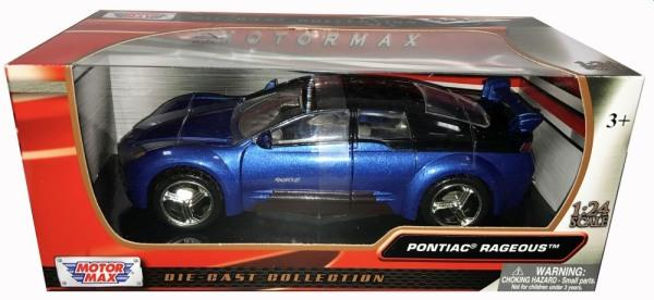 Pontiac Rageous in metallic blue, 1:24 scale diecastmodel from Motormax, MMX73258B