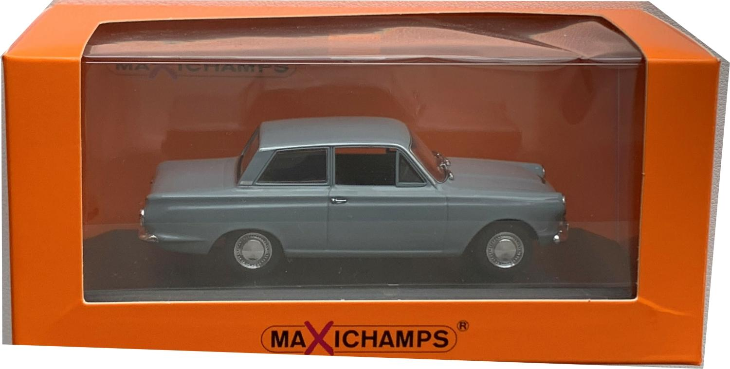 Ford Cortina mk 1 1962 in grey 1:43 scale model from Maxichamps
