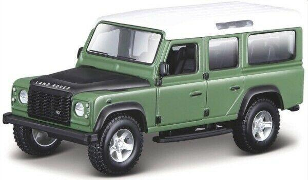 Land Rover Defender 110 in green / white / black 1:32 scale model from Bburago