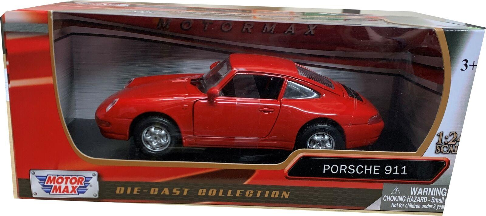 Porsche 911 (993) in red 1:24 scale model from Motormax