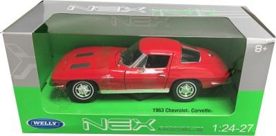Chevrolet Corvette 1963 in red 1:24 scale model from Welly