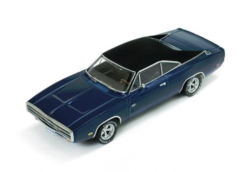 Dodge Charger 500 1970 in blue 1:43 scale model from Premium X Models