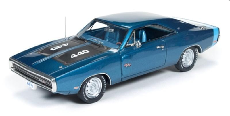 Dodge Charger R/T 1970 in metallic blue 1:43 resin scale model from Auto World