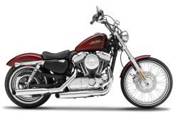Harley Davidson 2012 XL 1200V Seventy Two in metallic red 1:12 scale model from Maisto