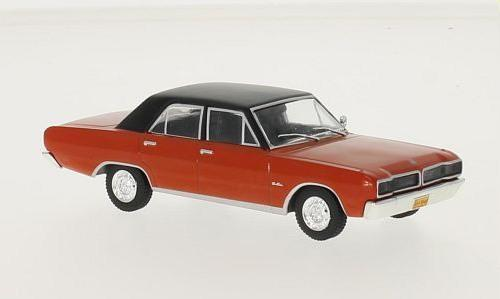 Dodge Charger R/T 1975 in red / black 1:43 scale model from whitebox