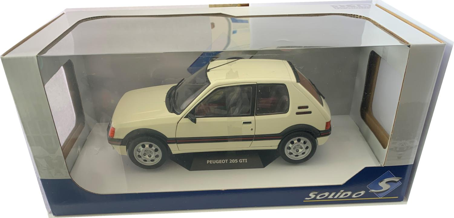 Peugeot 205 GTI 1.9L mk 1 1988 in white 1:18 scale model from Solido