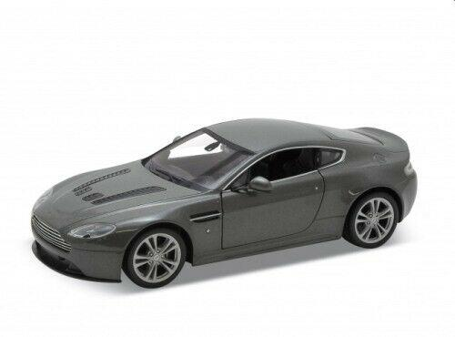 Aston Martin V12 Vantage in metallic grey 1:24 scale model from Welly