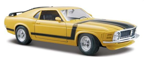 Ford  Mustang Boss 302 in yellow, 1970, Maisto 1:24 scale model, MAi31943Y