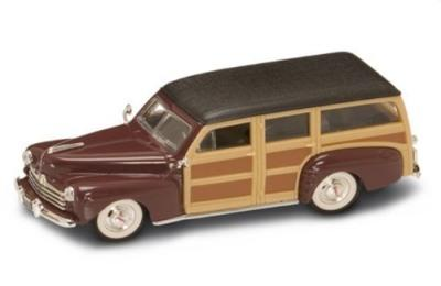 Ford Woody 1948 in burgundy 1:43 scale model from Road Signature