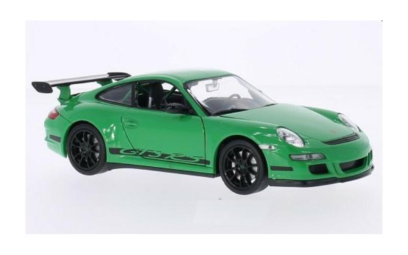 Porsche 911 (997) GT3 RS in green 1:24 scale model from Welly