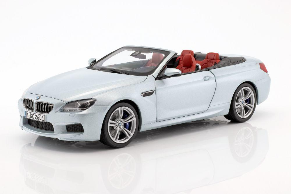 BMW M6 Cabriolet (F12) in Silverstone 1:18 scale model