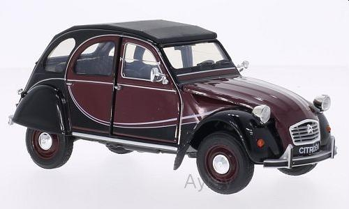 Citroen 2CV 6 Charleston 1982 in red/black 1:24 scale model from welly
