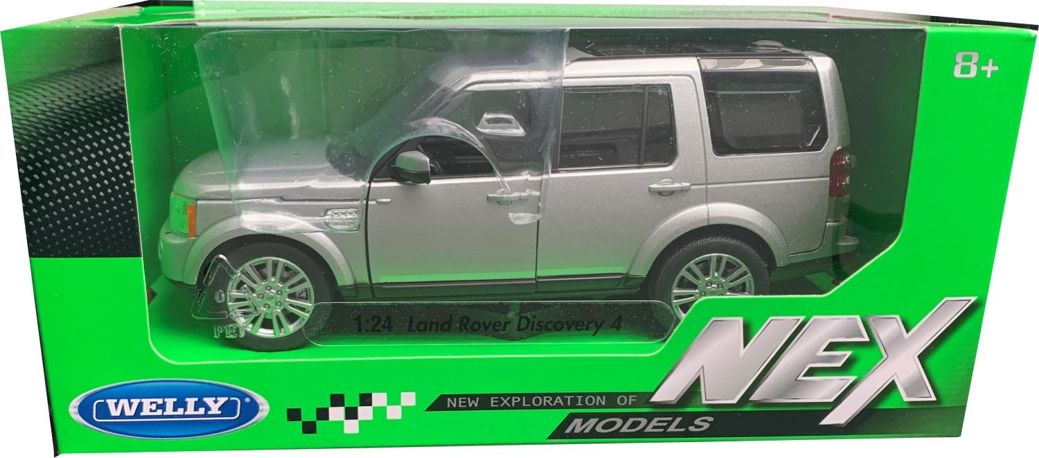 Land Rover Discovery 4 in silver 1:24 scale diecast model from Welly