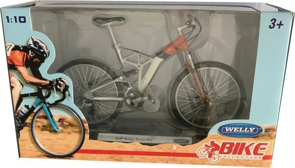 Audi Design Cross Pro Bicycle in silver / orange 1:10 scale model from Welly