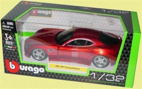 Alfa Romeo 8C Competizione in metallic red 1:32 scale model from Bburago