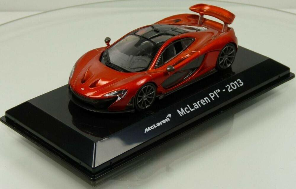 McLaren P1 2013 in metallic orange 1:43 scale model